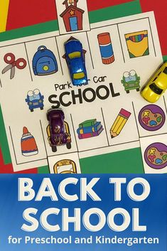 Introduce your students to Parking Lot Games with this SCHOOL version. Designed for preschool, pre-k, and kindergarten! Your students will love this game as they match school common school objects. Use small toy cars and your students will beg to play this game again and again. After your students learn how to play, the game is perfect for independent practice, small groups, or math centers. This is a favorite activity for early finishers. #kindergarten #tpt #prek #preschool #beginningofschool Beginning Of School, Pre School, Back To School, Sorting Games, Early Finishers, School Games, Math Centers, Student Learning, Math Activities