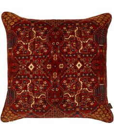 This exquisite velvet cushion from House of Hackney features a design inspired by a 17th Century Mey Meh rug found in the Liberty Oriental Carpets department. Perfect for homes with unique taste! #LibertyGifts #LibertyHome