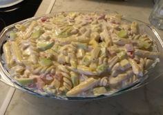 Tésztasaláta recept foto Penne, Pasta Salad, Spinach, Cabbage, Food And Drink, Cooking Recipes, Yummy Food, Meat, Chicken