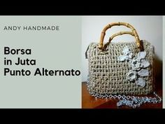 TUTORIAL: borsa in juta Punto Alternato - uncinetto - YouTube