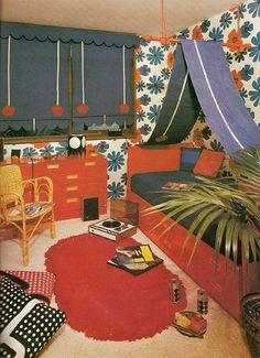 vintage children room decor // chambre enfant années 70 ✭ mid centure kids design