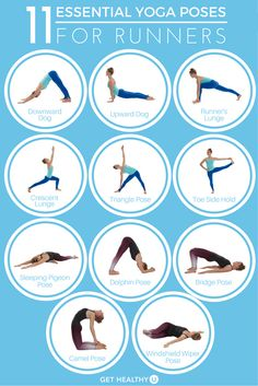 Yoga and running complement each other well; learn the poses runners should use to stay long, lean, and pain-free.