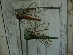Bobbin Bugs - washers for eyes and make the wings with soft 'tie wire' available at the hardware store