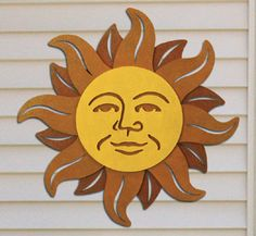 Celestial Sun Wall Decor Wood Pattern Impressive southwest or celestial design will brighten any wall outdoors or inside. #diy #woodcraftpatterns