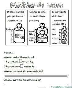 II>★★★★ medidas de masa - Recursos educativos y material didáctico para niños de primaria. Descarga medidas de masa gratis.