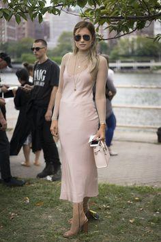 Get Your Street Style Fix Straight From New York Fashion Week Day 1 Danielle Bernstein wearing Ryan Roche.
