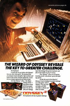 Magnavox Odyssey - I was never allowed to get an atari, but this was somehow better, it had a keyboard.