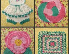 PDF Crochet Pattern Dainty Little Doilies  13 different
