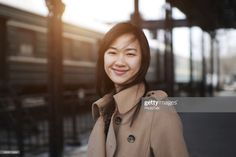 Stock Photo : Young Woman in Railway Station - XLarge Train Station, Still Image, Young Women, Royalty Free Images, Photoshoot, Stock Photos, Woman, Faces, Photography