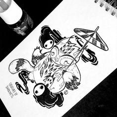 Inktober Day 8 #roroto #totoro #hayaomiyazaki #inktober2018 #inktober #ink #artwork #creatureofdarkness #illustration #doodle Hayao Miyazaki, Totoro, Inktober, Ink Art, Illustration, Doodles, Day, Artwork, Instagram