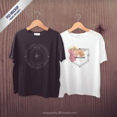 Camisetas maqueta Psd Gratis