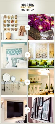 DIY decor - Discover home design ideas, furniture, browse photos and plan projects at HG Design Ideas - connecting homeowners with the latest trends in home design & remodeling Diy Projects To Try, Home Projects, Home Crafts, Diy Home Decor, Decor Crafts, Easy Crafts, Diy Molding, Molding Ideas, Crown Molding