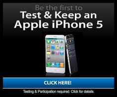 Test and Keep a new iPhone 5! Nice! I just got an iTunes card code for FREE! :D http://freeitunes.cc
