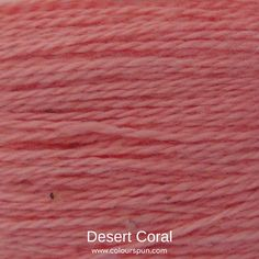 A ColourSpun Pure Cotton yarn and embroidery thread colour swatch. This colour is called Desert Coral Colour Swatches, Super Chunky Yarn, Fabric Yarn, Embroidery Thread, Fabric Design, Deserts, Coral, Cotton, Postres