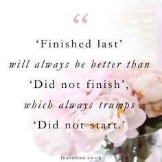 #FEAinspiration Don't worry about the 'what ifs'...if you want to make your dream come true you have to get started and keep going and going and going... until.