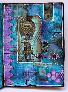Journal Page {with Lynne Perrella  Hot Picks Stamps by Marjie Kemper} - PaperArtsy