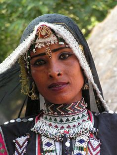 Tribal woman in a village outside Udaipur