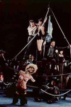 1984 Berlin Komische Oper production- Scene of Jim's imagined sailing trip using thick rope