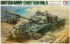 "Tamiya British Chieftain Mk.5 1/35 Scale ""Remote Control"" Vintage Classic Model Series. (Remember) Michael Turner, Vintage Models, Old Models, Plastic Model Kits, Plastic Models, Maquette Tamiya, Tamiya Models, Action Painting, Real Model"
