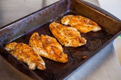 Baked chicken in the oven is my favorite. Especially when it's prepared with a nice mixture of spices like this one! Check out the recipe.    You'll Need:    4 boneless skinless chicken breasts.  1 tsp of kosher salt.  ½ tsp