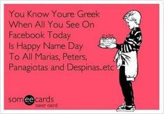 Chronia Polla Greek Memes, Greek Quotes, Greek Sayings, Funny Greek, Best Quotes, Funny Quotes, Awesome Quotes, Happy Name Day, Greek Girl