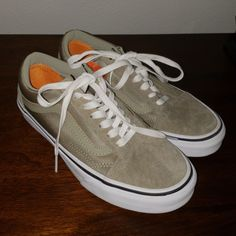 698129c37d Shop Women s Vans Green size Sneakers at a discounted price at Poshmark.  Description  Suede and polyester neoprene old school Van s Lightly worn  Water ...