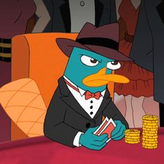 Agent P (Perry the Platypus) Best Profile Pictures, Cartoon Profile Pictures, Cartoon Pics, Cartoon Characters, Po Kung Fu Panda, Phineas Et Ferb, Perry The Platypus, Animated Icons, Arte Disney