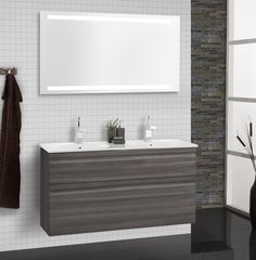 Choose either a mirror or mirror cabinet with integrated energy-efficient LED lighting to complete the look.