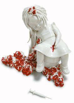 Bloodflowers …Ceramic : Maria Rubinke