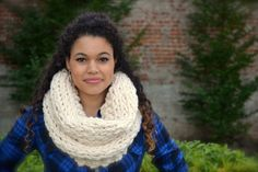Hey, I found this really awesome Etsy listing at https://www.etsy.com/listing/176021032/hand-knit-chunky-cream-colored-infinity
