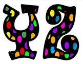 Polka Dot Alphabet Letters for your bulletin board. Superhero Bulletin Boards, Bulletin Board Letters, Bulletin Board Display, Cool Lettering, Lettering Design, Plymouth State, Christmas Hanukkah, English Language Arts, Teacher Resources