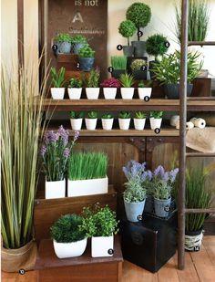 Plantas artificiales para decorar rincones sin buena luz o donde es dificil mantener el riego...