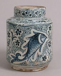 Pharmacy Jar, 1400s. Made in Florence, Tuscany, Italy Culture: Italian. Medium: Tin-glazed earthenware.