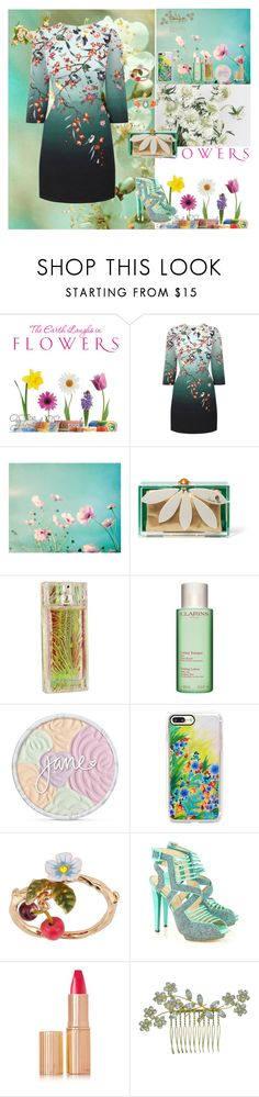 """Flowers🌺"" by oksana-kolesnyk ❤ liked on Polyvore featuring Oasis, Charlotte Olympia, Roberto Cavalli, Clarins, jane, Casetify, Les Néréides, BURAK UYAN, Charlotte Tilbury and Jennifer Behr"