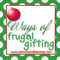 Christmas gift ideas on a budget - great blog entry