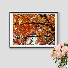 Autumn Print Fall Instant Download Autumn Poster Photography