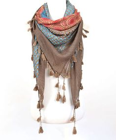 Do Everything In Love Gray Tassel-Accent Scarf by Do Everything In Love #zulily #zulilyfinds