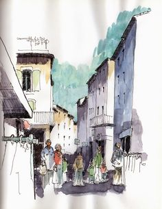 Urban Sketchers: Meanwhile in France...