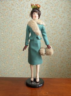 Fashionably Suited Aiko [Tonner Stacked Deck Spade (T15FTSD04) doll rebodied to Ashton Drake Gene body; Ashton Drake Gene First Stop: Chicago (76522) outfit]