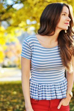 DIY peplum top from a mens top.  This blog has tons of DIY sewing tutorials and refashioning ideas.