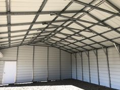 Tell us about your project and we'll show you our metal carports for sale. We also build custom garages, workshops, and barns. Metal Garages, Custom Garages, Carports For Sale, Steel Carports, Blinds, Garage Doors, Curtains, Building, Frame