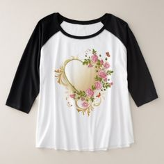 VictoriaHeart Plus-Size 3/4 Sleeve Raglan T-Shirt - valentines day gifts gift idea diy customize special couple love