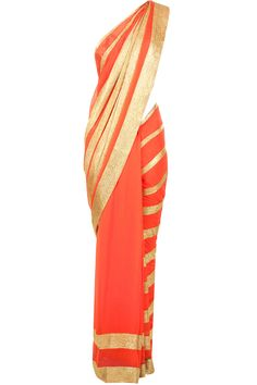 Orange sequins embroidered sari available only at Pernia's Pop-Up Shop.