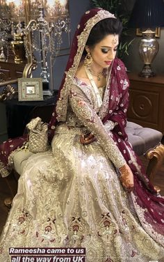 Indian Wedding Gowns, Asian Wedding Dress, Pakistani Wedding Outfits, Bridal Outfits, Pakistani Dresses, Indian Bridal, Indian Dresses, Ethnic Wedding, Bridal Lehenga