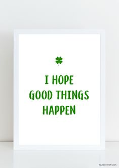Celebrate St. Patrick's Day with this simpleSt. Patrick's Day Art Print. This print is available as an instant download that can be printed for display in your home