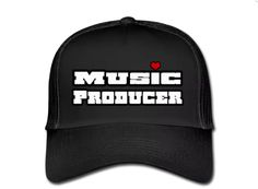 €17,99 order NOW!  Music Producer fully Black Trucker Cap. Match it wit a Music Producer hoody or T-shirt.