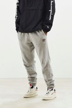 Umbro - Structured Fleece Jogger Pant - $70.00 Mens Joggers Sweatpants, Fleece Joggers, Jogger Pants, Famous Brands, Stylish Men, Perfect Fit, Urban Outfitters, Thighs, Fitness Models