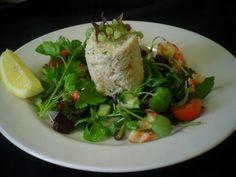 Small crab and crayfish tail salad