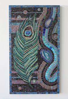 Galaxy Large mosaic artwork by HalleyDawn on Etsy, $1400.00