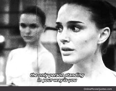 Black Swan- I love this movie! So many themes about losing yourself in pursuit of perfection but ultimately achieving it by letting go of everything. It's dark and heroic, sad and wonderful all at the same time! The cinematography, music, direction, everything about this movie is AMAZING!!!